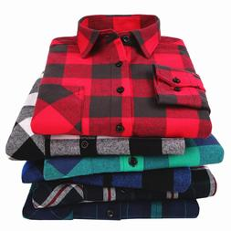 100% Cotton <font><b>Flannel</b></font> Men's Plaid <font><b