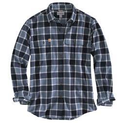 Carhartt 102815C - Hubbard Plaid Flannel Shirt - Steel Blue