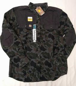 Carhartt 102827 Mens Burleson Printed Flannel Shirt  free sh