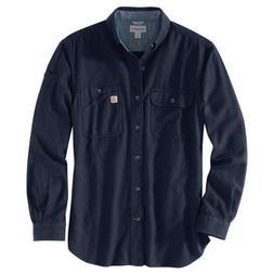 Carhartt 103318C - Beartooth Flannel Shirt - Navy Heather 98