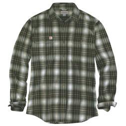 Carhartt 103348C - Hubbard Plaid Flannel Shirt - Burnt Olive