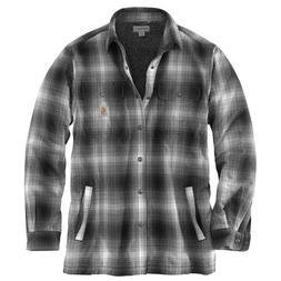 Carhartt 103353C - Hubbard Sherpa-Lined Plaid Flannel Shirt