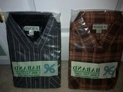 2 Mens Haband Flannel Shirts  Size XL