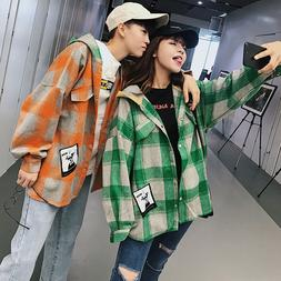 2018 autumn and winter new couples outfit plaid printing bag