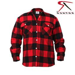 Rothco 2739 Fleece Lined Flannel Shirt - Red Plaid