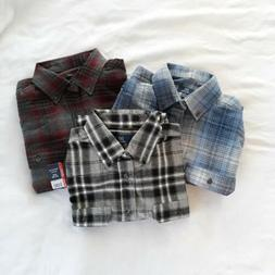 3 NEW George Mens Small Long Sleeve Flannel Shirt ~ 100% Cot