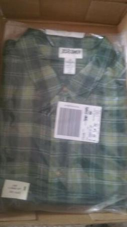 King Size 3XL Green Flannel Shirt