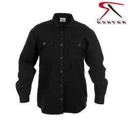 Rothco 4637 Heavy Weight Solid Flannel Shirt - Black