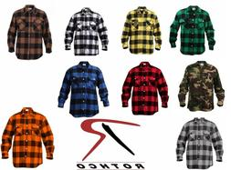 Rothco 4739 Men's Brawny Buffalo Plaid Long Sleeve Flannel S