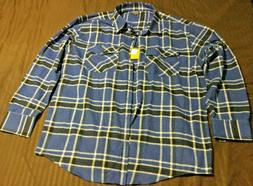 4xl Gioberti from Italy Shirt Plaid Flannel Long Sleeve
