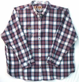 5XL Flannel Men's Shirt-Foundry Supply-Bering Sea Polar Bear