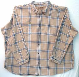 5XL Flannel Men's Shirt-Foundry Supply Co-Barley Bering Sea