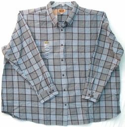 5XL Flannel Men's Shirt-Foundry Supply Co.-Gray Polar Bear P