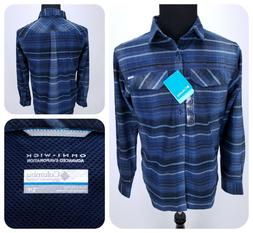 $65 Columbia Silver Ridge Flannel Shirt SMALL Button Front L