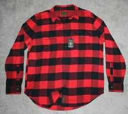 $69.50 New LUCKY BRAND Work Shirt Buffalo Plaid Men's XL X-L