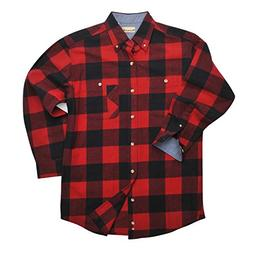 Backpacker Yarn Dyed Flannel Shirt, Black/Red, Large