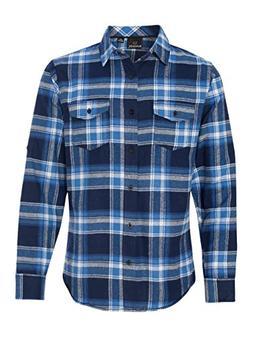 Burnside Yarn-Dyed Long Sleeve Flannel Shirt.B8210 X-Large B