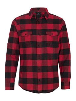 Burnside Yarn-Dyed Long Sleeve Flannel Shirt.B8210 X-Large R