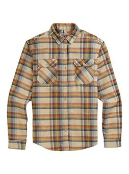 Burton Brighton Flannel Shirt, Safari Stella Plaid, Small