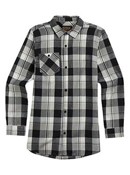 Burton Lagoon Long sleeve Woven, True Black Plaid, Large