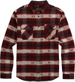 Burton Men's Brighton Burly Flannel Top, Fired Brick Azrek,