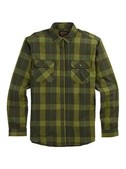 Burton Men's Brighton Tech Flannel Top, Forest Night Boxelde