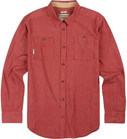 Burton Men's Glade Long Sleeve Shirt, Large, Brick Red Chamb