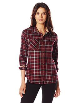 Burton Women's Grace Long Sleeve Woven Shirt, Sangria Haze P