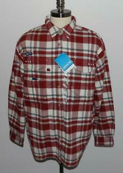 Columbia Sportswear Men's Bonehead Flannel Shirt, Beet Plaid