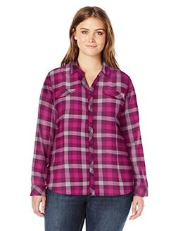Columbia Women's Plus Sizesimply Put Ii Flannel Shirt Size,