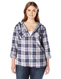 Columbia Women's Plus Sizetimes Two Hooded Long Sleeve Shirt