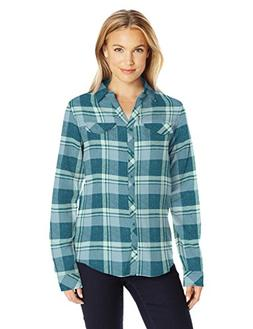 Columbia Women's Simply Put Ii Flannel Shirt, Cloudburst Ope