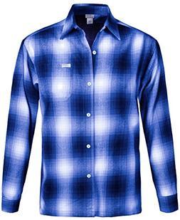 Guytalk Men's Regular-Fit Long-Sleeve Plaid Western Flannel