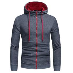 Mens Fashion Long Sleeve Hoodie Hooded Sweatshirt Tops Jacke