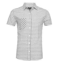 NUTEXROL Men's Regular Fit Short-Sleeve Plaid Shirt Cotton W