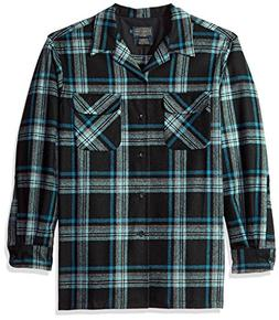 Pendleton Men's Classic Fit Long Sleeve Board Shirt, Black/T