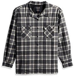 Pendleton Men's Classic Fit Long Sleeve Board Shirt, Grey/Iv