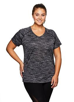 RBX Active Women's Plus Size Printed Short Sleeve Workout T-