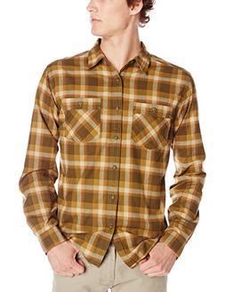 Royal Robbins Men's Merced Plaid Long Sleeve Shirt, Mangrove