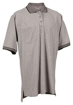 Tri-Mountain Men's Golf Cut Jacuqard Knit Shirt - 197 Mercur