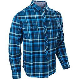 Troy Lee Designs Octane Woven Flannel-Blue-L