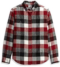 Woolrich Men's Organic Cotton Twisted Rich Flannel Shirt, Ol