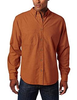 Woolrich Men's Sportsman Chamois Shirt, Persimmon Heather, S