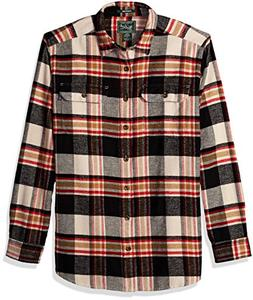 Woolrich Men's Tall Size Oxbow Bend Flannel Shirt Long, Ston