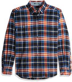 Woolrich Men's Trout Run Flannel Shirt, New Royal Blue, Larg
