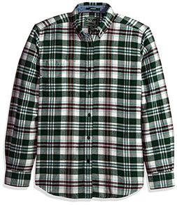 Woolrich Men's Trout Run Flannel Shirt, Pine Grove, Medium