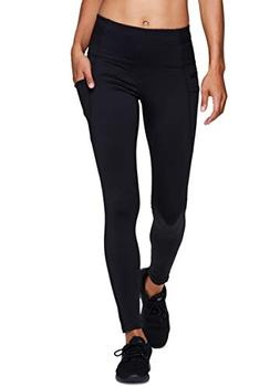RBX Active Women's Fleece Tech Pocket Leggings Black P18 M