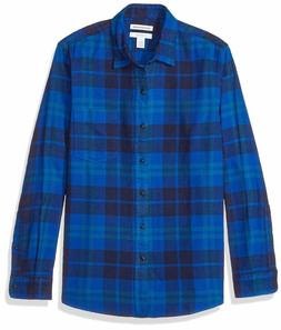 Amazon Essentials Men's Slim-Fit Long-Sleeve Plaid Flannel S