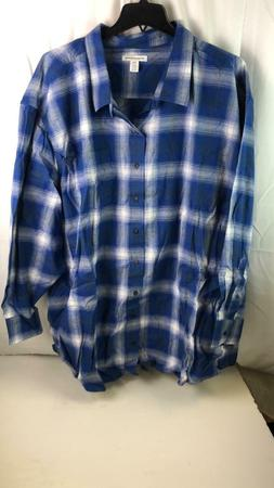 amazon essentials mens flannel big & tall shirt size 5XL