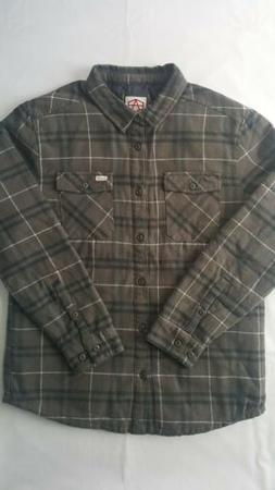 RVCA Andrew Reynolds Plaid Flannel Men's Quilted Lined Shirt